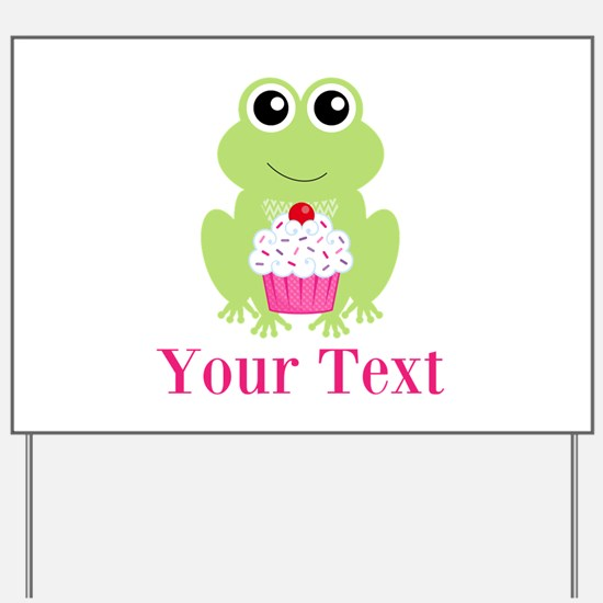 Personalizable Cupcake Frog Yard Sign