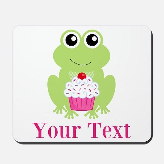 Personalizable Cupcake Frog Mousepad