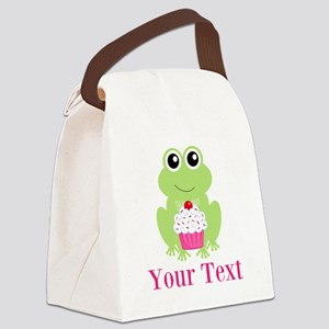 Personalizable Cupcake Frog Canvas Lunch Bag
