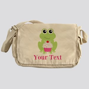 Personalizable Cupcake Frog Messenger Bag