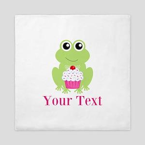 Personalizable Cupcake Frog Queen Duvet
