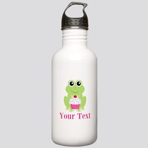 Personalizable Cupcake Frog Water Bottle