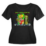 JZ Zombie Cereal Women's Plus Size Scoop Neck Dark
