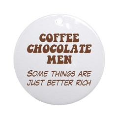 Coffee Chocolate Men Ornament (Round)