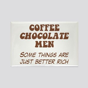 Coffee Chocolate Men Rectangle Magnet