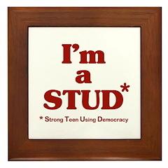 I'm a STUD* Framed Tile