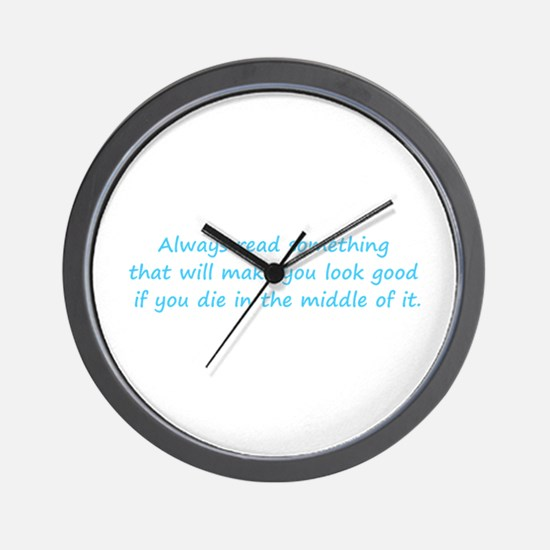Always Read Something Wall Clock