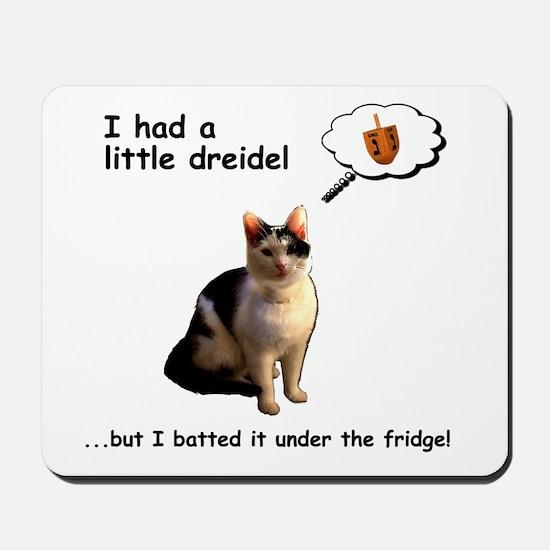 Hanukkah Dreidel Cat Mousepad