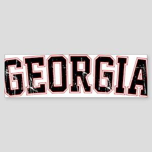 Georgia Jersey Font VINTAGE Sticker (Bumper)