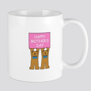 Happy Mother's Day from twin boys. Mugs