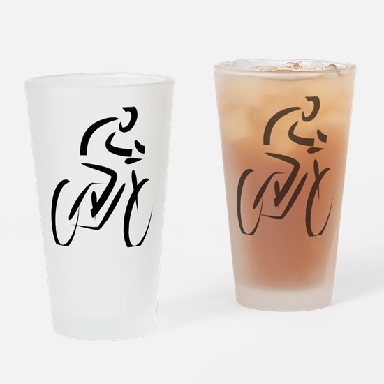 Funny Cycling mens Drinking Glass