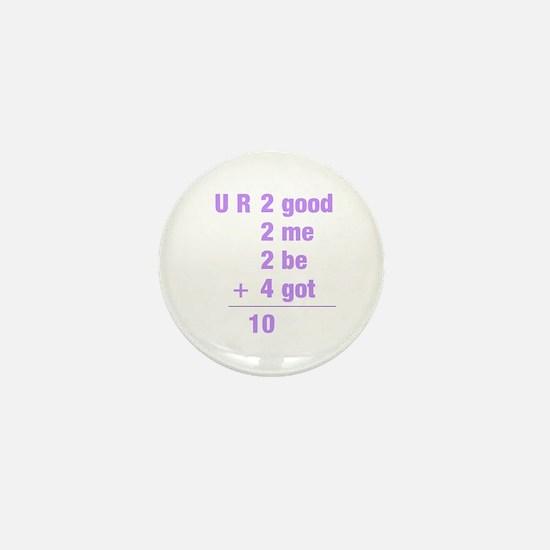 Math txt Mini Button