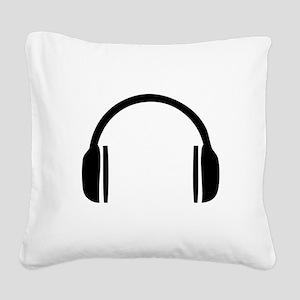 Headphones Square Canvas Pillow
