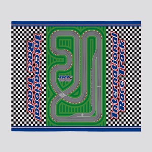 International Race Track Play Area Throw Blanket