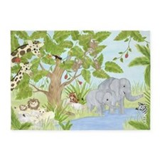 Jungle Animal 5'x7'Area Rug