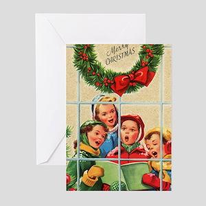 Children Caroling Christmas (pk Of Greeting Cards