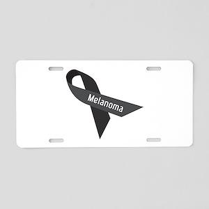 Melanoma Ribbon Aluminum License Plate