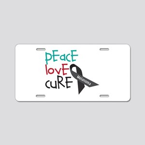Peace Love Cure Aluminum License Plate