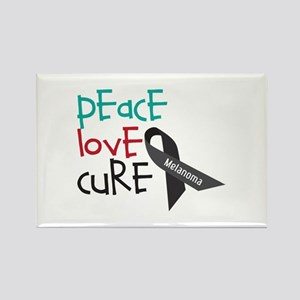 Peace Love Cure Magnets
