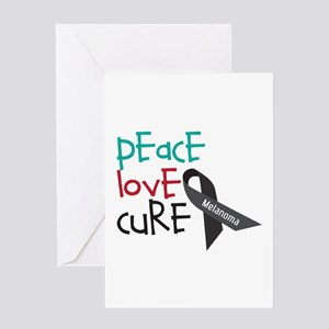 Peace Love Cure Greeting Cards