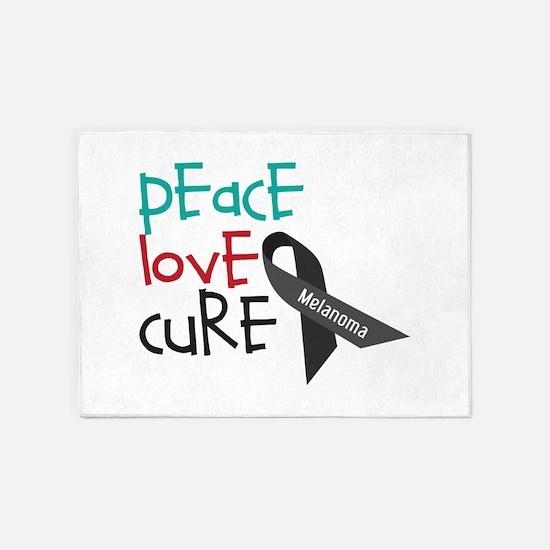 Peace Love Cure 5'x7'Area Rug