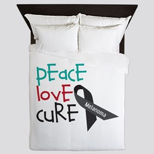 Peace Love Cure Queen Duvet