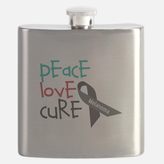 Peace Love Cure Flask