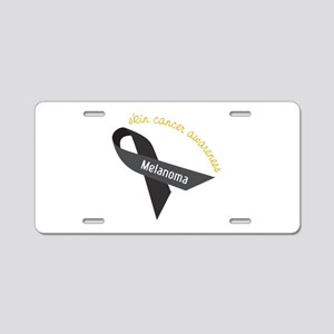 Skin Cancer Awareness Aluminum License Plate