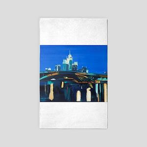 Moskau bei Nacht 3'x5' Area Rug