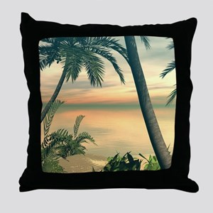 View of the sea Throw Pillow