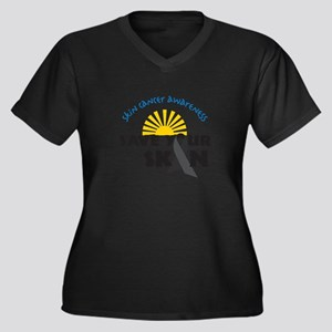 Skin Cancer Awareness Plus Size T-Shirt