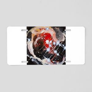 Monocorotis Aluminum License Plate
