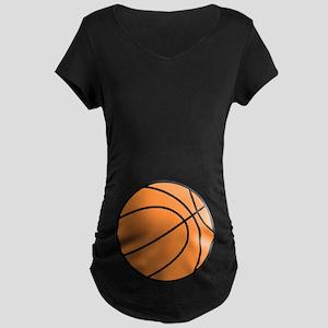 Basketball Belly Maternity Dark T-Shirt