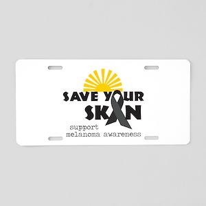 Support Melanoma Awareness Aluminum License Plate