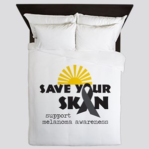 Support Melanoma Awareness Queen Duvet