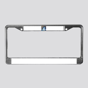 Sternenhimmel blau License Plate Frame