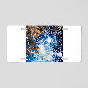 Sternenhimmel blau Aluminum License Plate