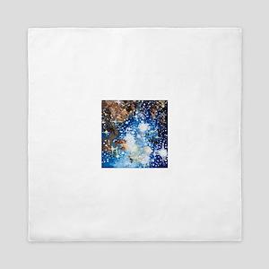Sternenhimmel blau Queen Duvet