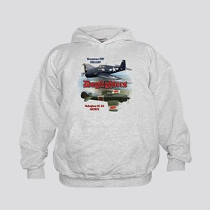 Dogfighters: F6F vs Ki-84 Kids Hoodie