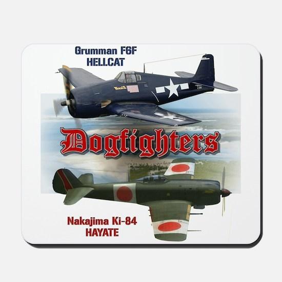 Dogfighters: F6F vs Ki-84 Mousepad