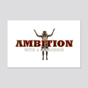 Ambition with a Conscience Mini Poster Print
