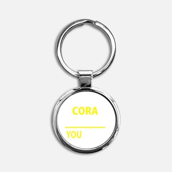 Cute Cora Round Keychain