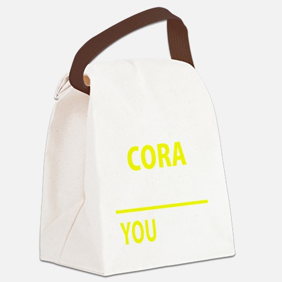 Funny Cora Canvas Lunch Bag