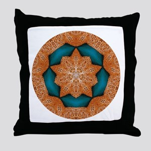 Coral Starfish Wreath with Turquoise Center Throw