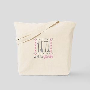 Love to Garden Tote Bag
