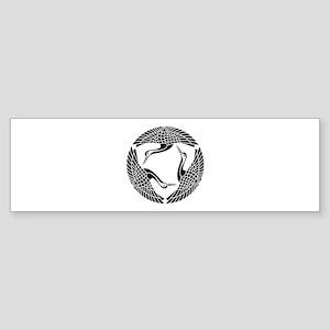Circle of three cranes Sticker (Bumper)