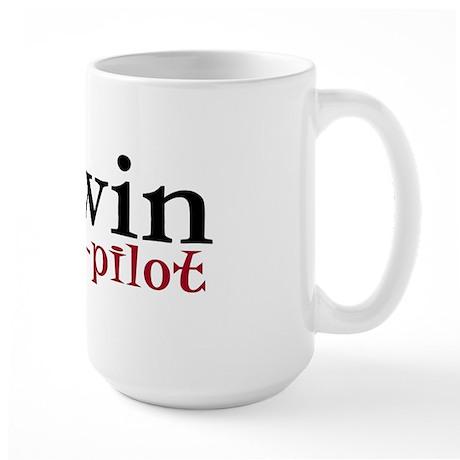 Darwin is my co-pilot Large Mug