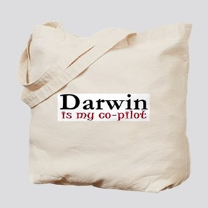 Darwin is my co-pilot Tote Bag