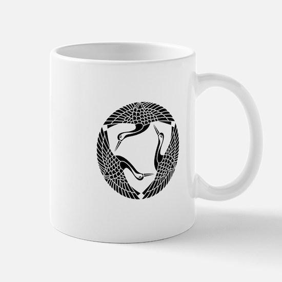 Circle of three cranes Mug