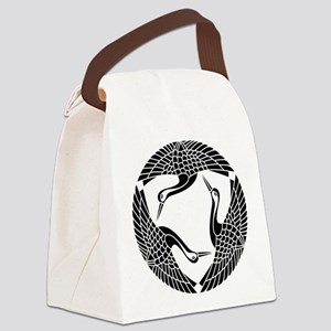 Circle of three cranes Canvas Lunch Bag